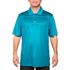 Men's Pebble Beach Classic-Fit Tech Print Stretch Performance Golf Polo