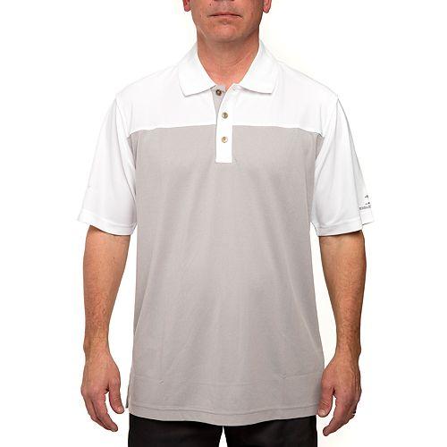 Men's Pebble Beach Classic-Fit Birdseye Colorblock Pique Performance Golf Polo