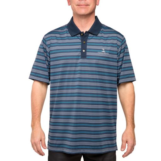 Men's Pebble Beach Classic-Fit Striped Easy-Care Performance Golf Polo