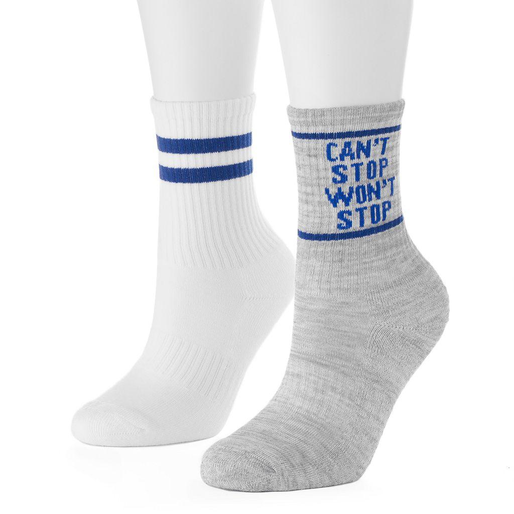 Women's SO® 2-pk. Athletic Crew Socks