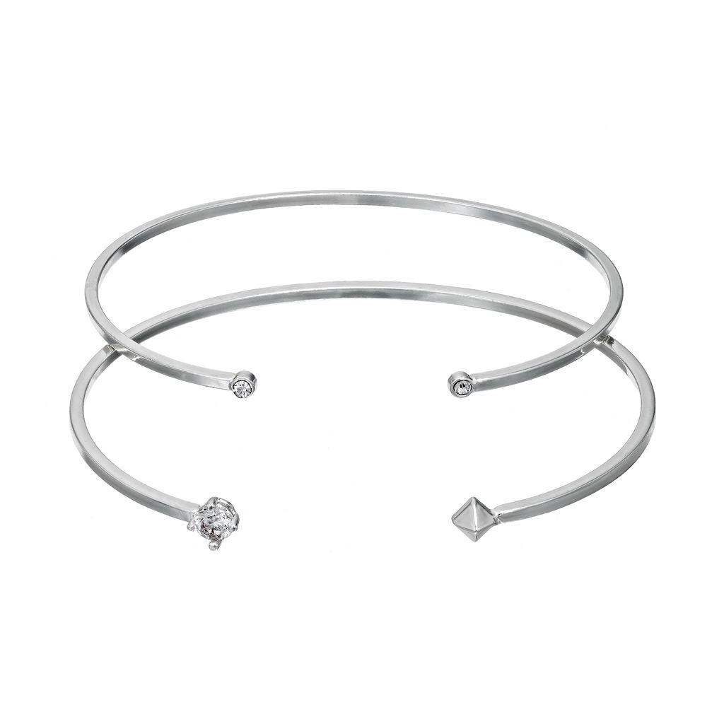 LC Lauren Conrad Cubic Zirconia Cuff Bracelet Set