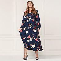 LC Lauren Conrad Runway Collection Wrap Maxi Dress - Plus Size
