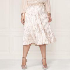 LC Lauren Conrad Runway Collection Pleated Velvet Skirt - Plus Size