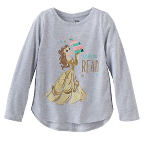 Disney's Beauty and the Beast Belle Girls 4-10 Glittery Graphic Tee by Jumping Beans®