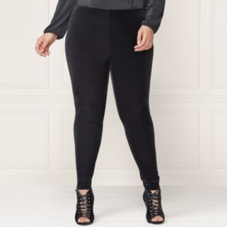 LC Lauren Conrad Runway Collection Velvet Leggings - Plus Size