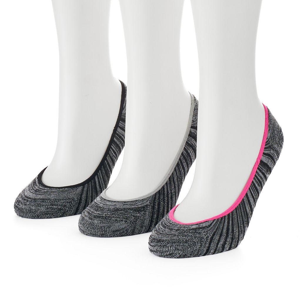 Women's SO® Marled Super No-Show Liner Socks