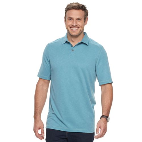 Big & Tall Croft & Barrow® Classic-Fit Slubbed Outdoor Performance Polo