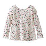 Girls 4-10 Jumping Beans® Print Pieced Long-Sleeve Tunic