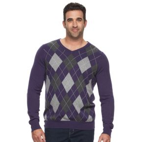 Big & Tall Croft & Barrow® True Comfort Classic-Fit Easy-Care V-Neck Sweater