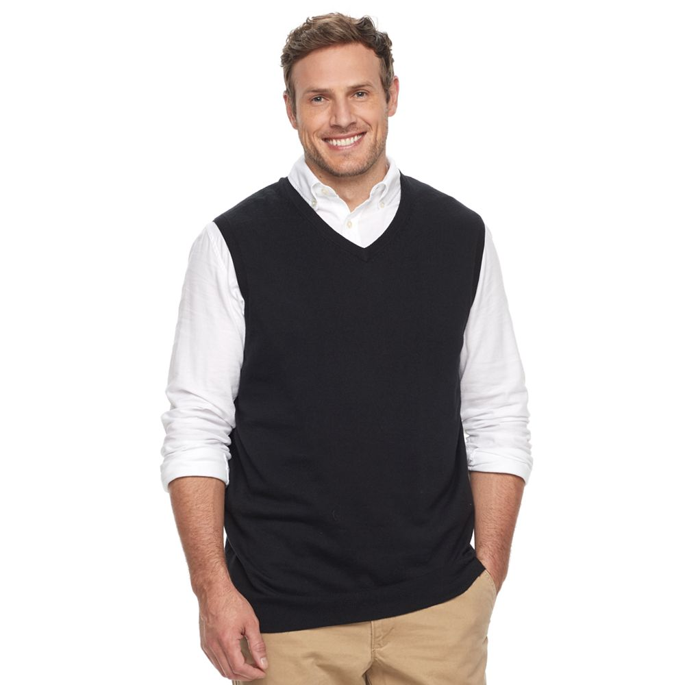 & Tall Croft & Barrow® Classic-Fit Easy-Care Sweater Vest