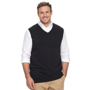 Big & Tall Croft & Barrow® Classic-Fit Easy-Care Sweater Vest