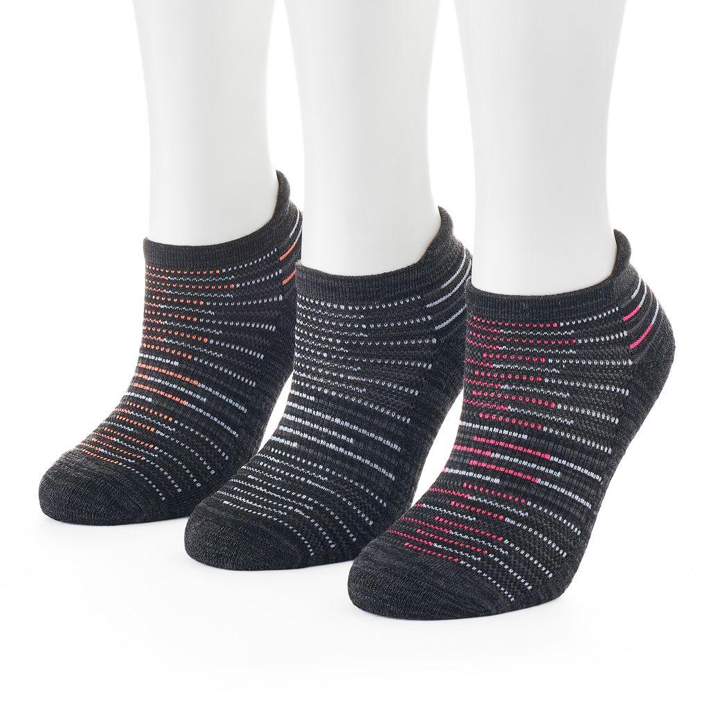 Women's SO® Marled Terry No-Show Socks