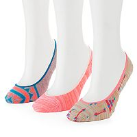 Women's SO® 3-pk. Assorted Super No-Show Liner Socks