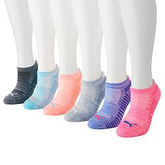 Women's PUMA 6-pk. Athletic Terry No-Show Socks