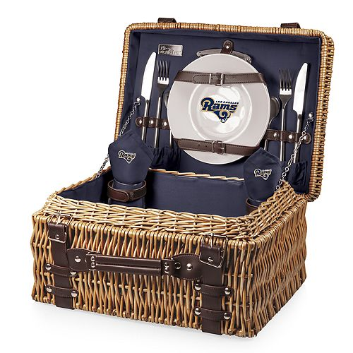 Picnic Time Los Angeles Rams Champion Picnic Basket with Service for 2