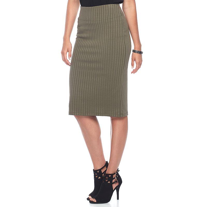 152864427 Women's Apt. 9® Tummy Control Pull-On Pencil Skirt (Green)   Prenzi ...