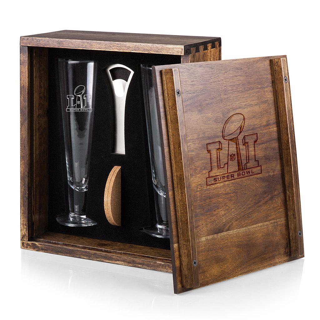 Picnic Time NFL Super Bowl 51 Pilsner Beer Glass Gift Set