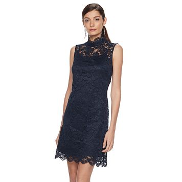 Women's Hope & Harlow Sleeveless Floral Eyelet Keyhole Dress