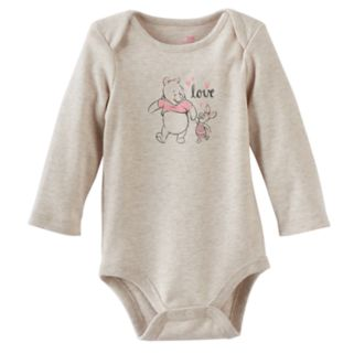 "Disney's Winnie The Pooh Baby Girl Pooh & Piglet ""Love"" Graphic Bodysuit by Jumping Beans®"