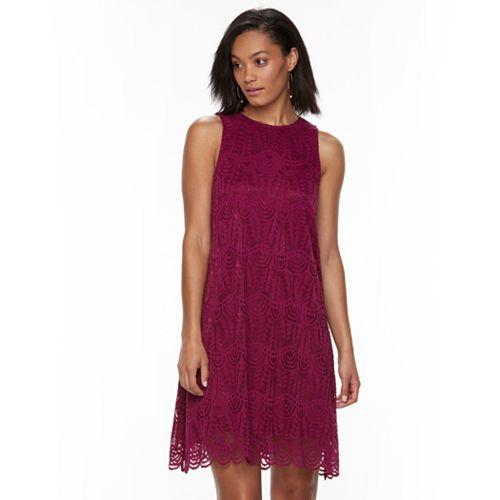 Women's Sharagano Sleeveless Lace Dress