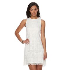 Women's Sharagano Sleeveless Lace Dress