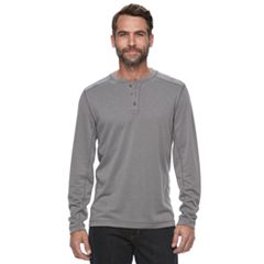 Men's Croft & Barrow® Classic-Fit Outdoor Slubbed Performance Henley