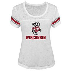 Juniors' Wisconsin Badgers White Out Tee