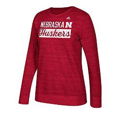 Women's adidas Nebraska Cornhuskers Script Tee