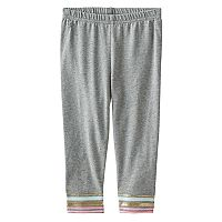 Baby Girl Jumping Beans® Striped Glitter Leggings