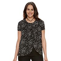 Maternity a:glow Pleated Tulip-Hem Nursing Top