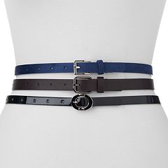Women's Apt. 9® 3-for-1 Belt Set