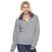Juniors' SO® Perfectly Soft Sherpa Sweatshirt