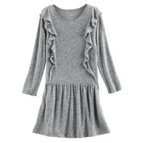 Girls 4-12 SONOMA Goods for Life™ Cascading Ruffle Dress