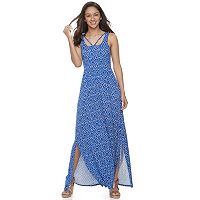 Juniors' SO® Strappy Scoopneck Maxi Dress