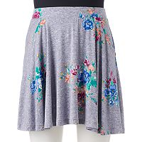 Juniors' SO® Shark-Bite Hem Skater Skirt