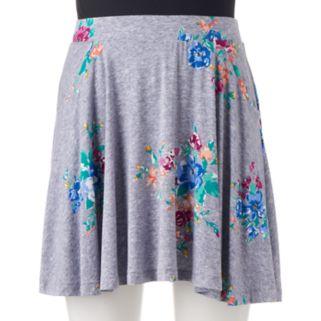 Juniors' SO® Shark-Bite Hem Skater Skirt