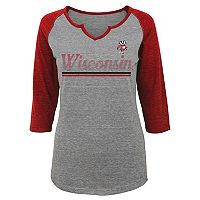 Juniors' Wisconsin Badgers Over the Line Tee
