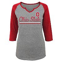Juniors' Ohio State Buckeyes Over the Line Tee