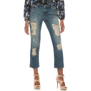 Petite Jennifer Lopez Ripped Boyfriend Jeans