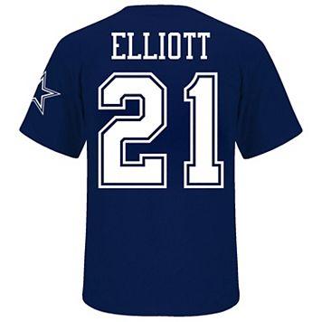 Big & Tall Dallas Cowboys Ezekiel Elliot Name and Number Tee