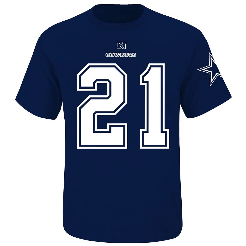 Big & Tall Dallas Cowboys Ezekiel Elliot Name and Number Tee