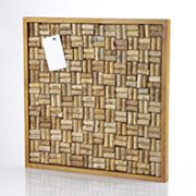 Wine Enthusiast Cork Bulletin Board Kit - Natural