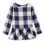 Girls 4-12 SONOMA Goods for Life™ Back-Button Peplum Tunic