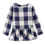 Girls 4-12 SONOMA Goods for Life™ Back-Button Peplum Tunic