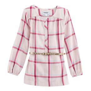 Girls 4-12 SONOMA Goods for Life™ Button-Front Belted Tunic