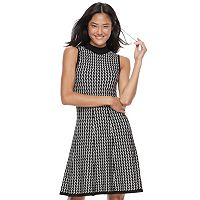 Juniors' Candie's® Sleeveless Chevron A-Line Sweater Dress