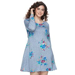 Juniors' Plus Size SO® Lace-Up Back Skater Dress