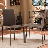 Baxton Studio Rockford Faux-Leather Dining Chair 2 pc Set
