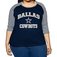 Plus Size Dallas Cowboys Raglan Tee
