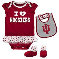 Baby Indiana Hoosiers Team Love Bodysuit Set